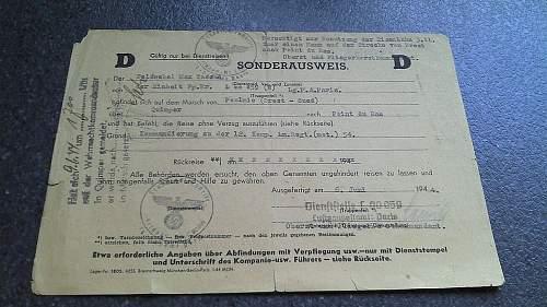 Sonderausweis - 6. June 1944