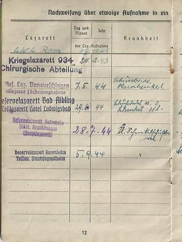Soldbuch 15th I.R. (mot.) (15th Panzergrenadiers), 29th Panzergrenadier Division