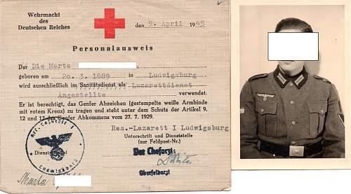 RED CROSS ID German / Allied