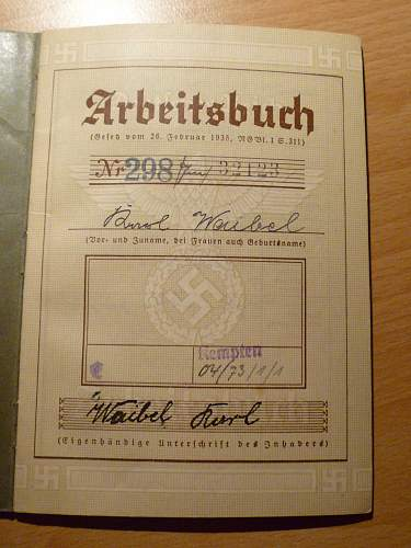 Arbeitsbuch Ordensburg Sonthofen