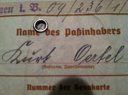 Wehrpass Name Deciphering