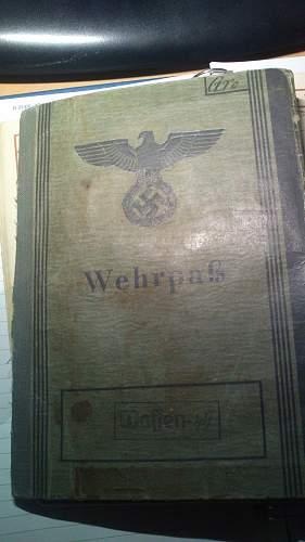 wehrpass waffen-ss