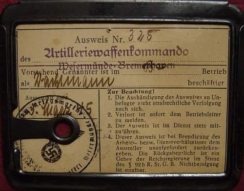 Kriegsmarine ausweis