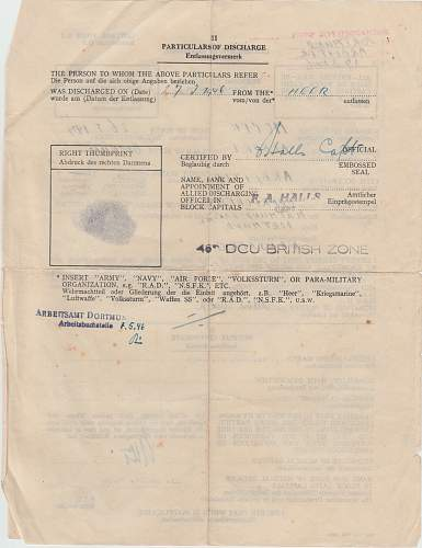 A recent purchase of Gefr Muller Soldbuch and award docs