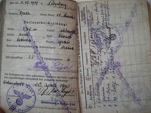 Pferdekommando Estland -SS Polizei Soldbuch
