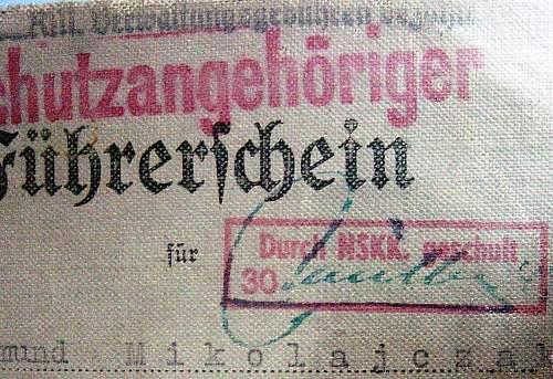 war time Fuhrerschein