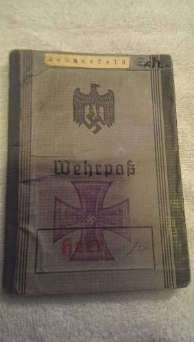 Default Wehrpass - With Translation ( one of 3 posts)