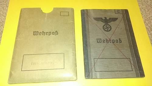 Wehrpass - Luft Ground Combat KIA - with English Translation