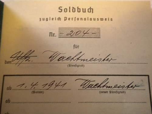 With My Luftwaffe Soldbuch