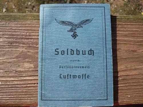 LW JU-88 Pilots Soldbuch