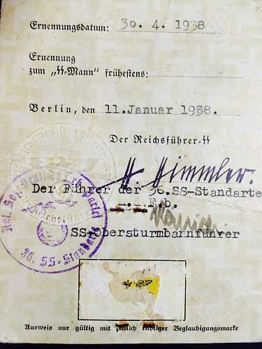 SS Ausweis