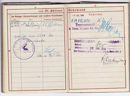 Wehrpass - Leopold Hofstatter KIA - with death notification letter