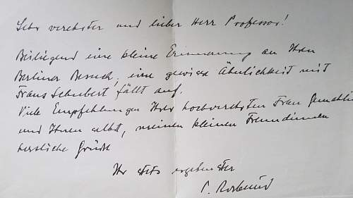Translation needed letter by Paul Rosbaud