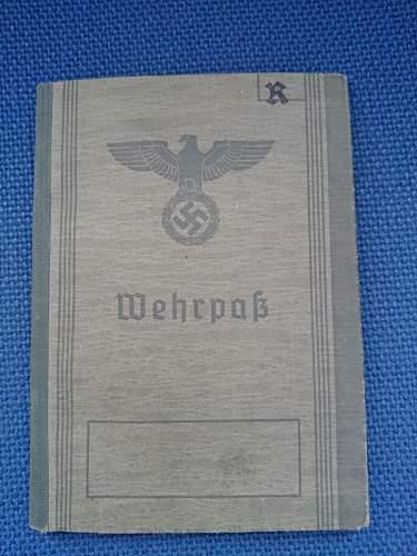 First Wehrpass