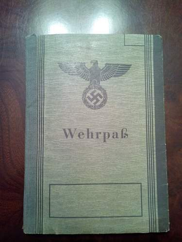 Wehrpass and a document of the I World War