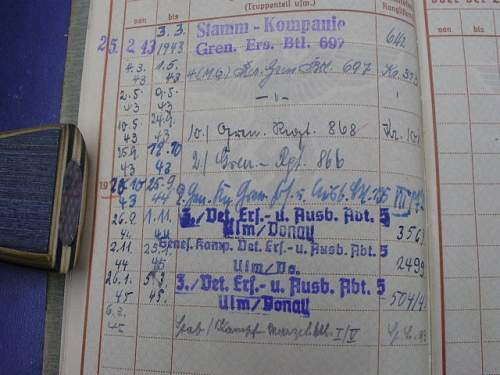 Help with Wehrpass Combat Entries