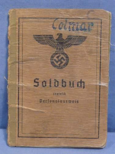 German Army Soldbuch with Postwar Epikrise