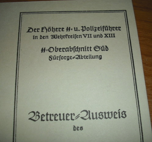 Waffen SS ID card? Work card? Permit card?  Police Card? Help!!
