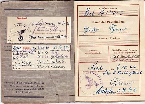 Wehrpass: Gustav Geer - Luftwaffe - Flak-Strum-Regiment 20