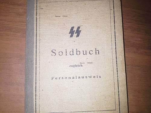 SS Soldbuch - For Your Review