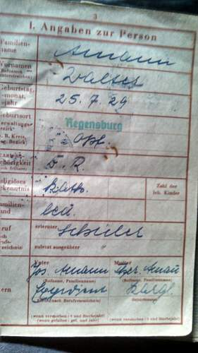 16 year old soilder Werpas  German Writing translation request