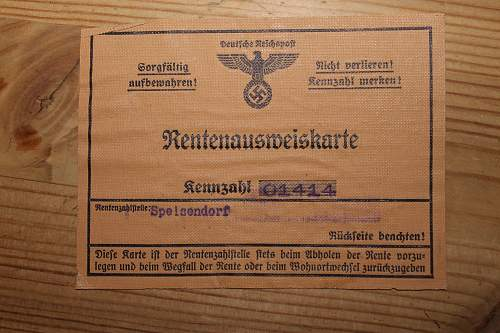 Reichspost pension id card