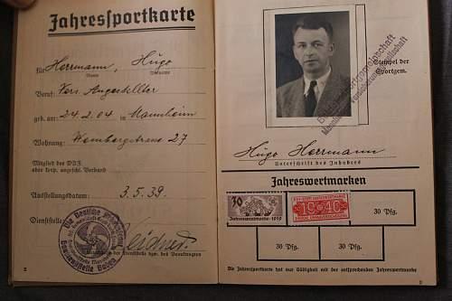 DAF Jahres-sportkarte 1939