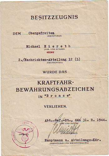 L/W Soldbuch 12 field division group