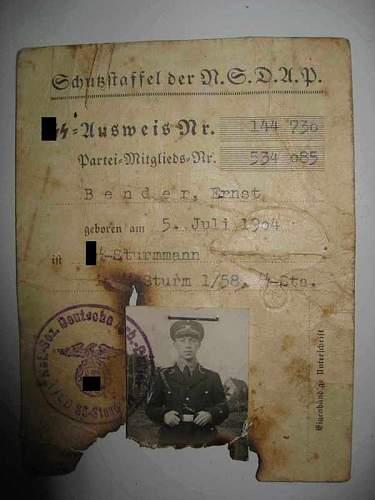 The SS Ausweis