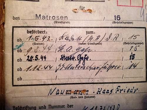 Kriegsmarine/Waffen SS soldbuch translation