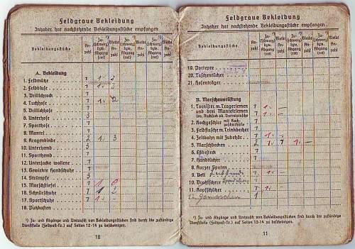 Kreigsmarine soldbuch & drivers licence
