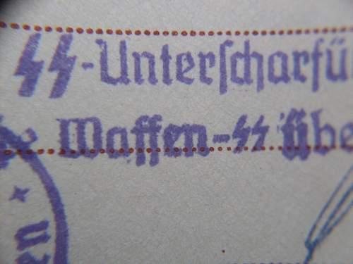 SS KL Sachsenhausen Wehrpass