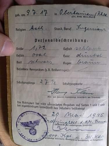 kriegsmarine soldbuch