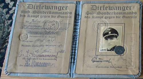 SS Sonderkommando booklet ...real or fake ??