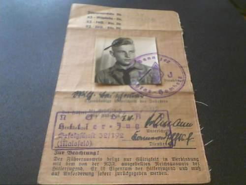HJ Fuehrer-Ausweis