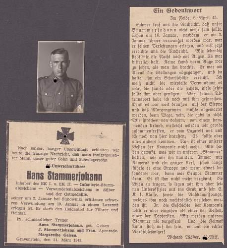 Opinions on Nahkampfspange Besitzzeugnis for an SS Unterscharfuehrer
