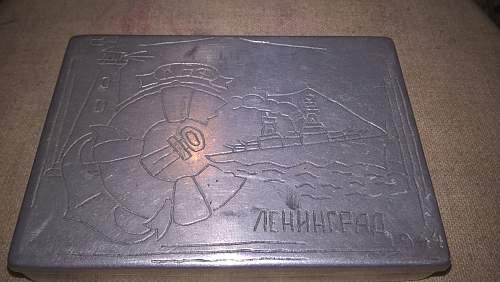 Soviet Navy Cigarette Case, Leningrad 1944