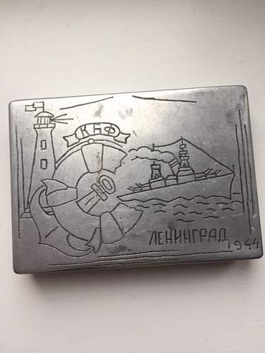 Soviet Trench Art Cigarette cases
