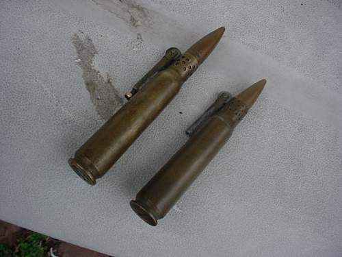2 50 cal trench art lighters,info needed