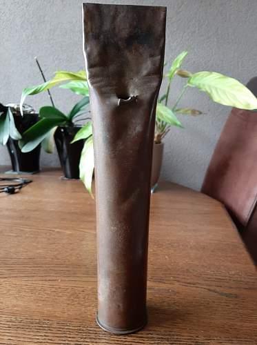 Bunkerlamp from artillery shell casing