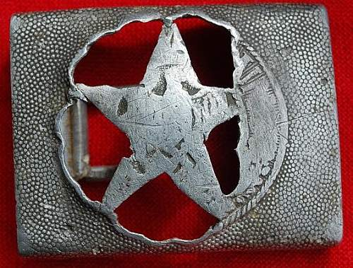 De-nazified german belt buckles!