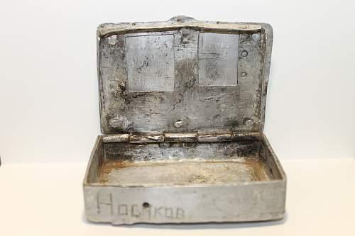 Soviet Trench Art Cigarette cases