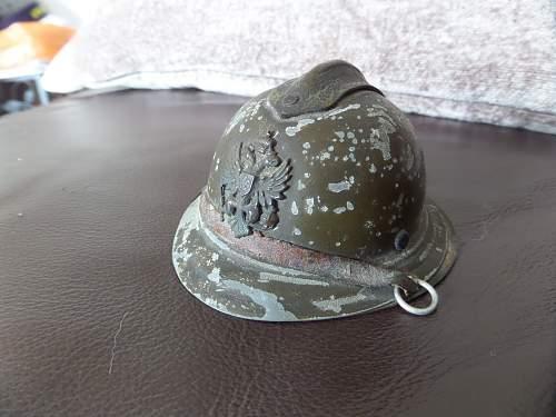 Interesting Russian helmet Ink well