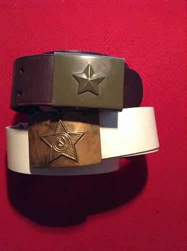 2 Soviet belt and buckles