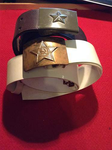 2 Soviet belt and buckles