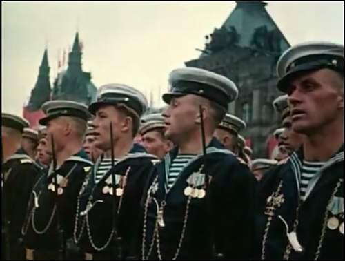 Soviet Navy 1945 Parade Chest Cords