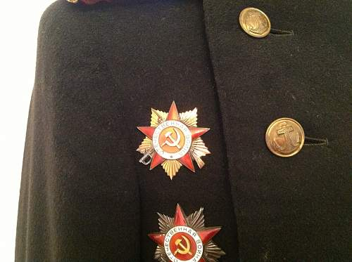 Navy Officers uniform + medals + documents