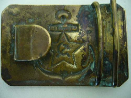 ww2 period navy buckle ...