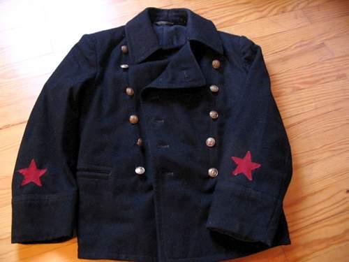 My navy items, coat and navy cap