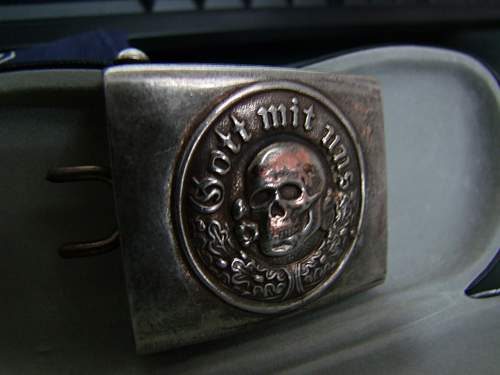 Totenkopf buckle: real or fake?